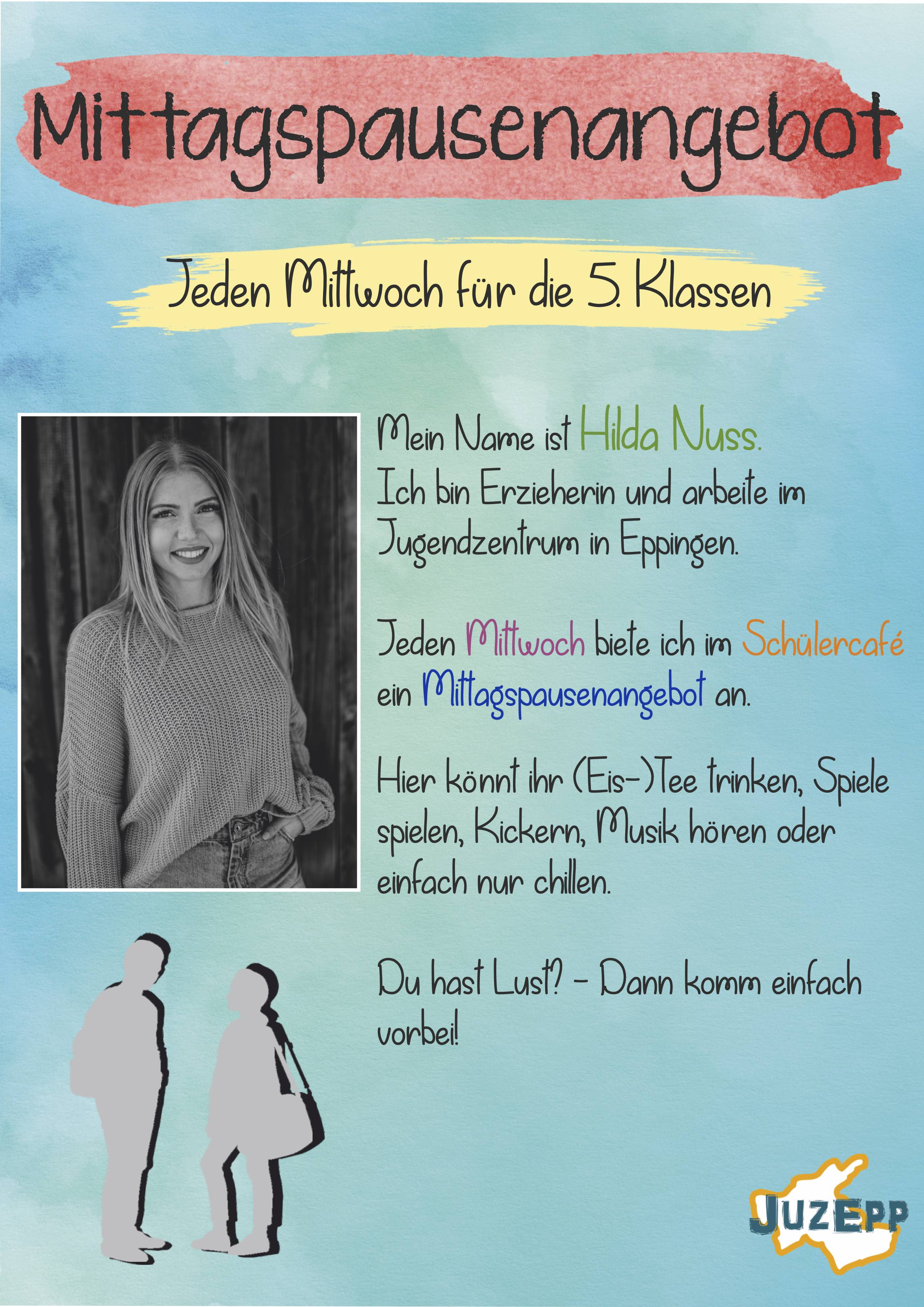 Mittagspausenangebot Flyer